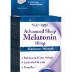 อาหารเสริมเพื่อการนอนหลับที่ดี เมลาโทนิน 10 mg , Natrol 60 เม็ด