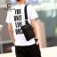 พร้อมส่งกระเป๋าผู้ชายคาดไหล่แฟขั่นเกาหลี รหัส Man-8076 สีดำ thumbnail 1
