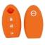 WASABI ซิลิโคนกุญแจ Nissan March,Juke,Tida,Paulsa (สีส้ม) แถมฟรี ผ้าไมโครไฟเบอร์ อย่างดี 1 ผืน thumbnail 2