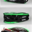 กระเป๋า Eageka ใบใหญ่สีดำ/เขียวเข้มสะท้อนแสง หนังแก้ว thumbnail 3