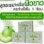 Natcha Gluta Melon White Soap สบู่กลูต้าเมล่อน สีเขียว ผิวขาว กระจ่างใส thumbnail 1
