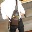 พร้อมส่ง กระเป๋าผู้ชายคาดไหล่ ลิตเติ้ลมอนสเตอร์ ใส่ ipad 7.9 นิ้ว แฟขั่นเกาหลี รหัส Man-6054 สีน้ำตาล thumbnail 1