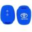 WASABI ซิลิโคนกุญแจ Toyota New Vios,Yaris,Commuter 2013 (สีน้ำเงิน) แถมฟรี ผ้าไมโครไฟเบอร์ อย่างดี 1 ผืน thumbnail 2