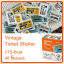 Vintage Ticket Sticker [VTS-Boat] thumbnail 1