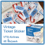 Vintage Ticket Sticker [VTS-Airlines] thumbnail 1