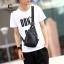 พร้อมส่ง กระเป๋าผู้ชายคาดไหล่ Messenger bag แฟชั่นเกาหลี รหัส Man-2094 สีดำ thumbnail 1