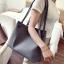 พร้อมส่ง กระเป๋าผู้หญิงสะพายใบใหญ่ แฟชั่นเกาหลี เช็ต 2 ใบ TIANCAI BAG รหัส C-236-2 สีเทาเข้ม thumbnail 1
