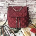 กระเป๋าเป้สะพายสีแดง NEW Arrival! Zara Quilted Chain Backpack 2016 วัสดุ100%Polyester