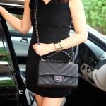 กระเป๋าสะพายข้างสีดำ จากแบรนด์KEEP รุ่นKEEP-shoulder สวยหรู ป้ายห้อยหนังของแบรนด์ของแท้ ถุงผ้าแบรนด์ของแท้