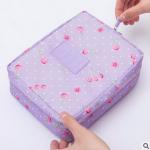 กระเป๋าใส่เครื่องสำอางค์ และใส่ของใช้ในห้องน้ำ #Purple Cherry