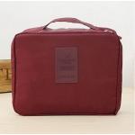 กระเป๋าใส่เครื่องสำอางค์ และใส่ของใช้ในห้องน้ำ #Wine Red