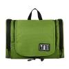 กระเป๋าใส่อุปกรณ์ห้องน้ำ ใส่อุปกรณ์เครื่องสำอาง ใส่ขวดได้ มีกระเป๋าใส่ของเพิ่มซ้าย-ขวา แขวนได้ สำหรับเดินทาง ท่องเที่ยว (สีเขียว)