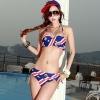 ชุดว่ายน้ำบิกินี่ทูพีช สีน้ำเงินเข้มสลับสีแดงขาว ลายสมอเรือสวยๆ