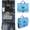 กระเป๋าใส่อุปกรณ์ห้องน้ำ คุณภาพสูง ใส่อุปกรณ์เครื่องสำอาง แขวนได้ สำหรับเดินทาง ท่องเที่ยว (สีฟ้า)