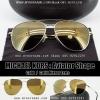 Michael Kors Sunglasses : Aviator Shape Gold Mirror Lens