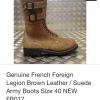 Vintage NOS France World war 2 military jump boot size 40