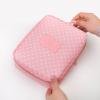 กระเป๋าใส่เครื่องสำอางค์ และใส่ของใช้ในห้องน้ำ #Wave Point Pink