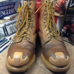 Vintage safety work boots หัวเหล็ก size 9D
