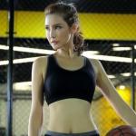 พร้อมส่ง Sports bra เนื้อผ้ามีส่วนผสมของ Nylon 90% Spandex 10% ผ้า Nylon ไซส์ L XL