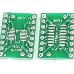 SOP16 SSOP16 TSSOP16 to DIP16 PCB Adapter Plate