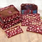 DINIWELL ชุดจัดกระเป๋าเดินทาง 6 ใบ ผลิตจากโพลีเอสเตอร์กันน้ำคุณภาพดี มี 5 สี 5 ลาย ให้เลือก