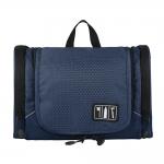 กระเป๋าใส่อุปกรณ์ห้องน้ำ ใส่อุปกรณ์เครื่องสำอาง ใส่ขวดได้ มีกระเป๋าใส่ของเพิ่มซ้าย-ขวา แขวนได้ สำหรับเดินทาง ท่องเที่ยว (สีน้ำเงิน)