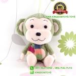 ตุ๊กตา ลิงสีเขียวผูกผ้าพันคอ 35 CM [Little CuCu]