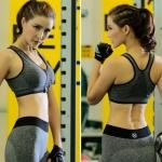 grey zip พร้อมส่ง Sports bra ผลิตจากผ้า Nylon 90% Spandex 10% ไซส์ M L