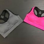 พร้อมส่ง Sports bra มีส่วนผสมของ Nylon 90% spandex 10% ผ้า Nylon สี เทา ม่วง ไซส์ M L XL