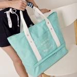 กระเป๋าสะพายผ้าแคสวาส เสียบกระเป๋าเดินทางได้ มีช่องใส่สองชั้นบน-ล่าง มีกระเป๋าเล็กแยก เหมาะสำหรับท่องเที่ยว เดินทาง