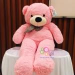 ตุ๊กตาหมีลืมตา 1 เมตร สีชมพู ตุ๊กตาหมีตัวใหญ่ ตุ๊กตาตัวอ้วน