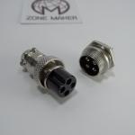 Socket Plug GX16 - 4PIN Male & Female