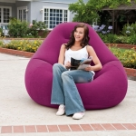Beanless Bag Chair โซฟาเป่าลม ใหญ่ สีม่วง