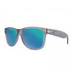 Knockaround Fort Knocks Sunglasses - Frosted Grey / Green Moonshine