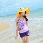ชุดว่ายน้ำทูพีช สีม่วง