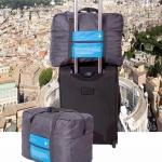 DINIWELL กระเป๋าเดินทางพับได้ อเนกประสงค์ เพื่อการเดินทาง ท่องเที่ยว ปรับสายสะพายได้ เสียบที่จับของกระเป๋าเดินทางได้ น้ำหนักเบา มีซิปรูดตอนพับเก็บ
