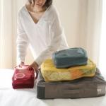 ชุดจัดกระเป๋าเดินทางตาข่าย 4 ใบ จัดระเบียบกระเป๋าเดินทาง ท่องเที่ยว ใส่ได้ทั้งเสื้อผ้า, กางเกง, อุปกรณ์ห้องน้ำ, เครื่องสำอาง, อุปกรณ์ไอที