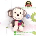 ตุ๊กตา ลิงสีเทาผูกผ้าพันคอ 30 CM [Little CuCu]