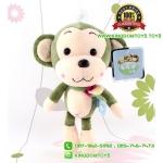 ตุ๊กตา ลิงสีเขียว ผูกผ้าพันคอ 9 นิ้ว [Little CuCu]