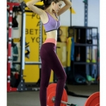 purple พร้อมส่ง กางเกงออกกำลังกาย เนื้อผ้ามีส่วนผสมของ Nylon 57% polyester 35% spandex 8% ไซส์ M L