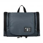 กระเป๋าใส่อุปกรณ์ห้องน้ำ ใส่อุปกรณ์เครื่องสำอาง ใส่ขวดได้ มีกระเป๋าใส่ของเพิ่มซ้าย-ขวา แขวนได้ สำหรับเดินทาง ท่องเที่ยว (สีเทา)