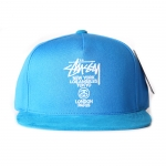 Stussy World Tour Snapback - Blue