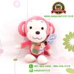 ตุ๊กตา ลิงสีชมพูผูกผ้าพันคอ 35 CM [Little CuCu]