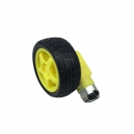 DC Gear Motor 1:48 + Rubber Wheel