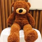ตุ๊กตาหมีลืมตา 1 เมตร สีน้ำตาลเข้ม ตุ๊กตาหมีตัวใหญ่ ตุ๊กตาตัวอ้วน
