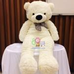 ตุ๊กตาหมีลืมตา 1 เมตร สีขาว ตุ๊กตาหมีตัวใหญ่ ตุ๊กตาตัวอ้วน