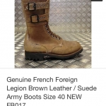 Vintage NOS France World war 2 military jump boot size 40