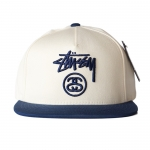 Stussy Stock Lock Snapback - Off White