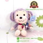 ตุ๊กตา ลิงสีม่วงผูกผ้าพันคอ 30 CM [Little CuCu]
