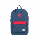Herschel Heritage Backpack - Navy Red / Navy Rubber / Red Inserts